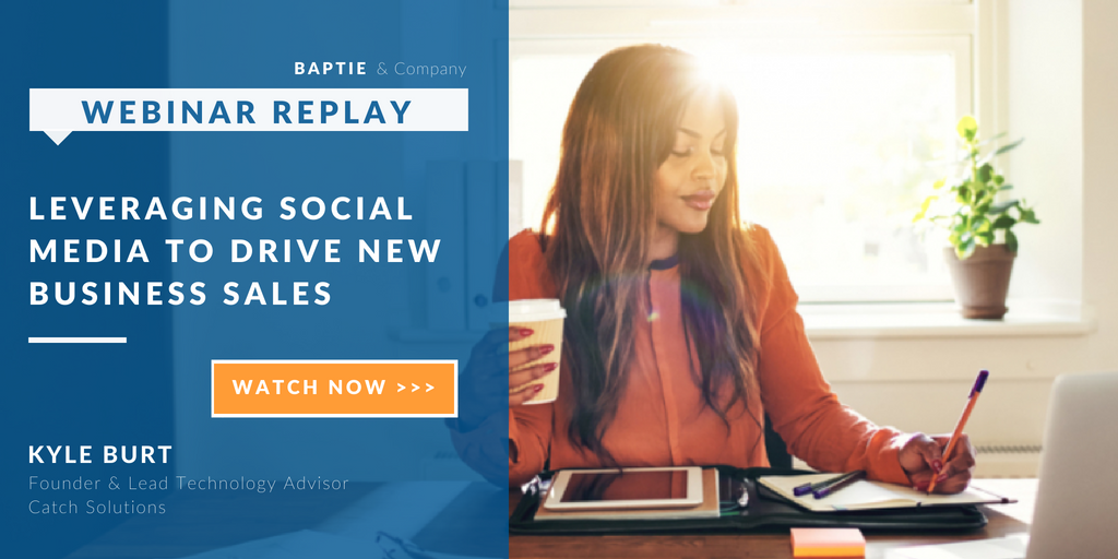 Webinar - Leveraging Social Media to Drive New Business Sales