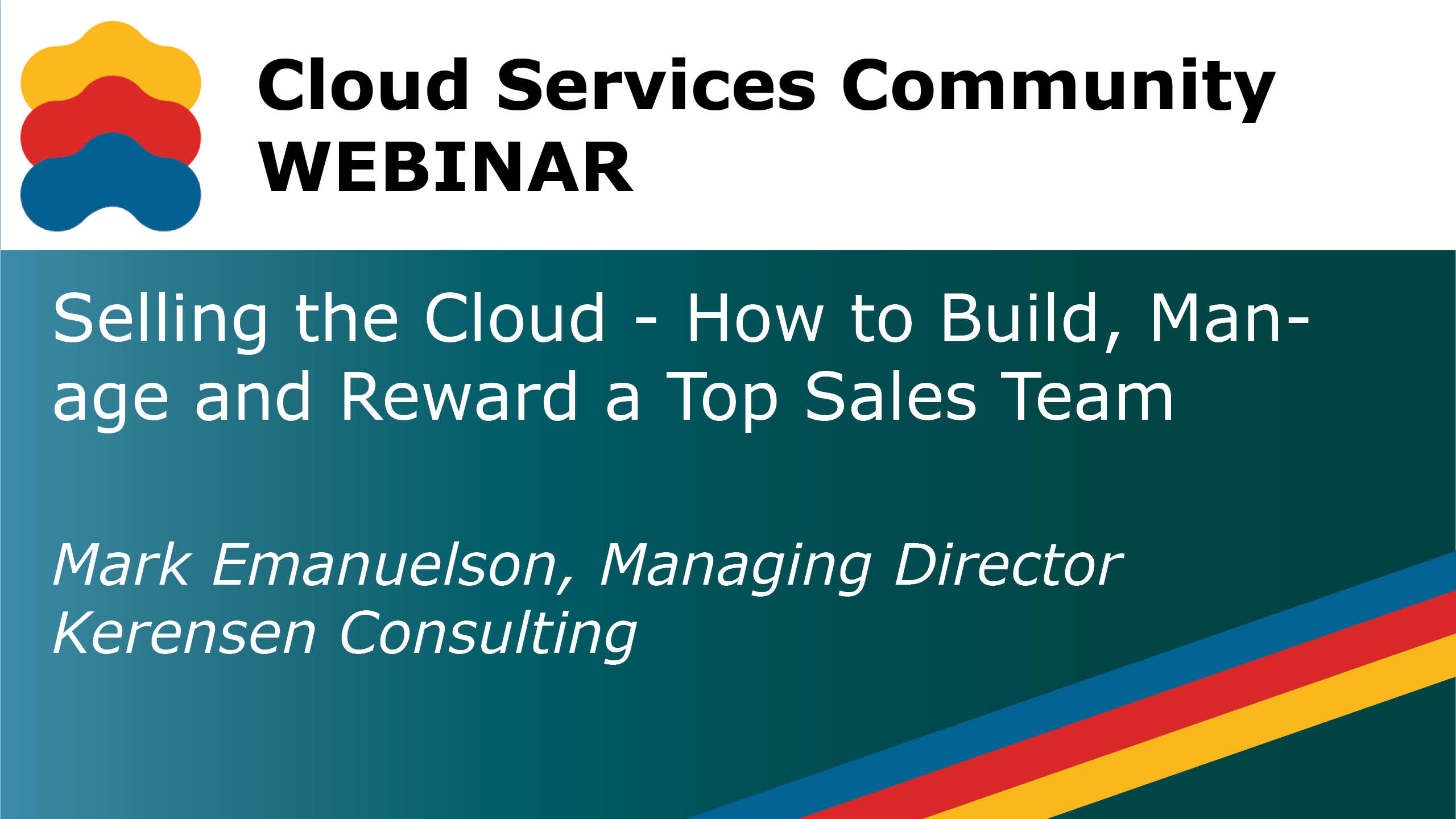CSC Webinar YouTube Banner SellingtheCloud