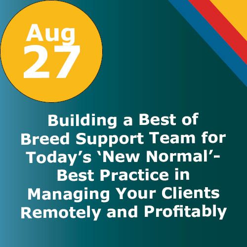 WEBINAR: Building a Best of Breed Support Team for Today's 'New Normal'- Best Practice in Managing Your Clients Remotely and Profitably
